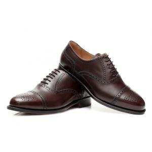 Oxford Halfbrogue Dunkelbraun Boxcalf